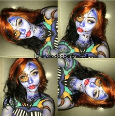 Sally with little touches of Jack, The Nightmare Before Christmas Makeup, Halloween Makeup #Sally #SallyMakeup #JackandSally #JackSkellington #TheNightmareBeforeChristmasMakeup #TheNightmareBeforeChristmas #ragdoll #ragdollmakeup #dollmakeup #Halloween #HalloweenMakeup #Makeup #makeupinspo #makeupinspiration #Halloweeninspo #HalloweenInspiration #makeuplooks #TimBurton #TimBurtonMakeup #TimBurtonArt IG @voodoobarbiedoll