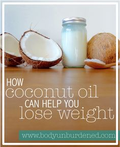 While a nutrient-dense real food diet will help body weight to normalize over time, coconut oil can aid the weight loss process! Natural health, real food, natural remedy.