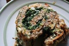 *Italian Meatloaf Roll w/ Spinach. I used ground turkey and the whole family loved it. I will leave out the salt next time.