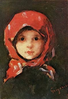 Little peasant girl - famous Romanian painter Nicolae Grigorescu Figure Painting, Painting & Drawing, Art Thou, Portraits, Famous Art, Your Paintings, Lovers Art, Painting Inspiration, Sculpture Art