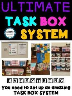 An organized task box system is essential for every Special Education Classroom. Independent work is a life saver. Check out this task box system for everything you need to get your students following independent schedules!