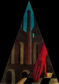 'El enigma de la fatalidad' (1914) by Greek-born Italian artist Giorgio de Chirico (1888-1978). 83 × 130 cm. collection: Museu de arte contemporãnea, São Paulo. source: cours de francais. via arte, pintura y genios