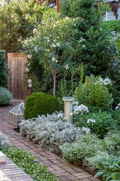 Tone on Tone: Our white garden featured in Southern Living, photo by Helen Norman.