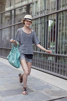Green Balenciaga bag!