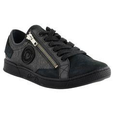 Pataugas - Baskets JESTER en cuir métallisé noir - A shopper ici >> http://www.pataugas.com/jester-ms-f4b-sneakers-cuir-metallise/#article=25890