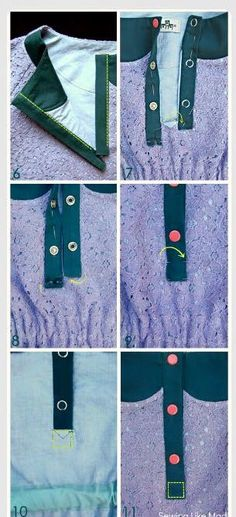 Placket with snaps