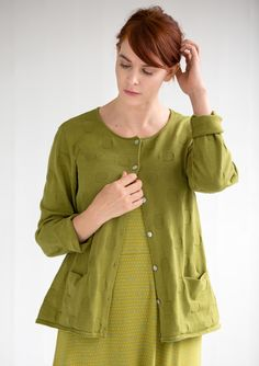 Textured patterned cardigan in eco-cotton – Sweaters & cardigans – GUDRUN SJÖDÉN – Webshop, mail order and boutiques | Colorful clothes and home textiles in natural materials.