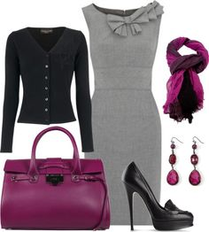 """Pop of Purple"" by vanessa-bohlmann ❤ liked on Polyvore"