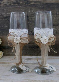 Recepción de flautas de tostado de boda copas Champagne vasos