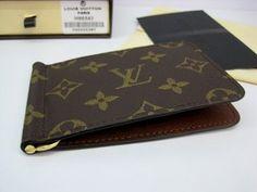 Louis Vuitton Pince Wallet Leather Money Clip Wallet, Louis Vuitton Monogram, Continental Wallet, Bags, Accessories, Handbags, Bag, Totes, Hand Bags