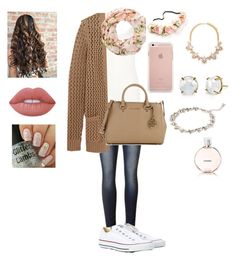 """Mall"" by pysaralina ❤ liked on Polyvore featuring beauty, Oasis, Michael Kors, Converse, New Look, Forever 21, Irene Neuwirth, Lime Crime and Chanel"