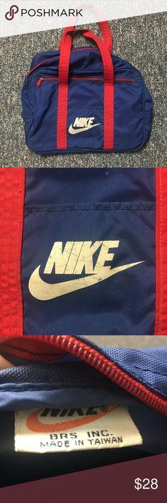 Vintage 80s Nike duffel bag free shipping Vintage Nike bag Nike Bags Duffel Bags