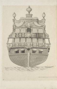 Jean Bérain (1640-1711) – Vaisseau: Le Brillant – Paris, Musée du Louvre