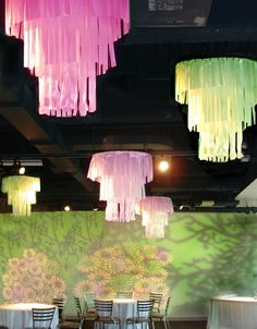 Fabric Chandeliers - This would look so precious in a little girls room