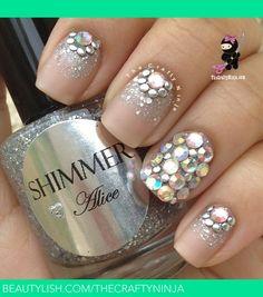 Swarovski Crystal Stud Nails | TheCraftyNinja H.s (TheCraftyNinja) Photo | Beautylish