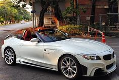 White BMW Convertible