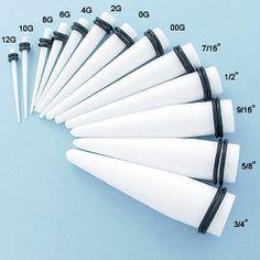 Actual Ear Gauge Rhinestone Size Chart Needle To