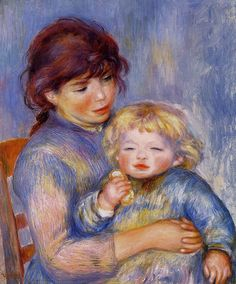 Pierre-Auguste Renoir - Motherhood aka Child with a Biscui