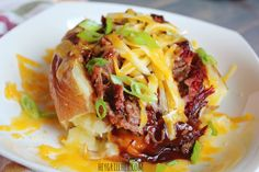 Loaded Brisket Baked Potato - Powered by @ultimaterecipe