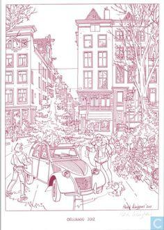 Carte postale - Carte de voeux bande dessinee - Gelukkig 2012 - Franka