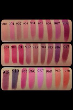 Wet n wild lipsticks swatch