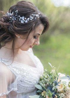 Bridal wedding headpiece Wedding Hair Vine With Leaves Bridal