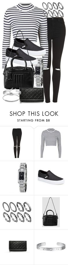 """""""Untitled #16961"""" by florencia95 ❤ liked on Polyvore featuring Topshop, Burberry, Vans, AllSaints, STELLA McCARTNEY, Cartier and Monica Vinader"""