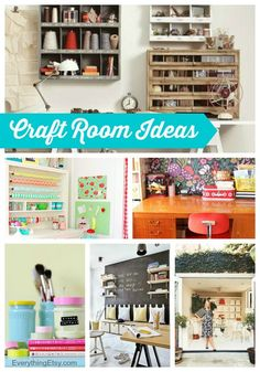Craft Room Ideas You'll Love! Organize with style on a budget! #diy