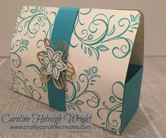 Falling Flowers Large Gift Bag with Magnetic Closure - Video tutorial using Stampin' Up products.