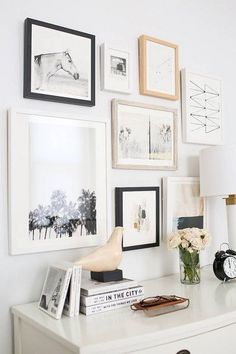 Art Collecting Gallery Wall Above Desk Bedroom Collage Walls Frame