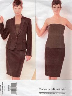Vogue 2684 Donna Karan  Misses Jacket Skirt and Top by mbchills,