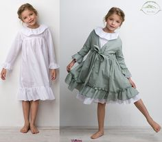 Sainte Claire this Frocks For Girls, Little Girl Dresses, Girls Dresses, Toddler Fashion, Kids Fashion, Girls Sleepwear, Baby Kids Clothes, Kind Mode, Baby Dress