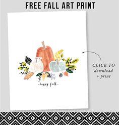 Free Fall Art Print / download at Jones Design Company