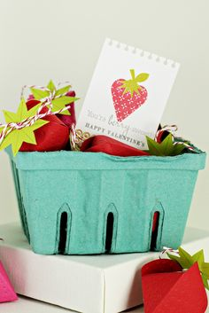 Berry basket for valentines day