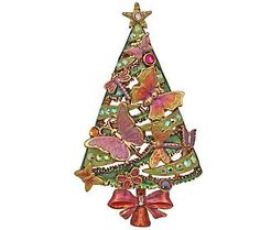 Kirks Folly Wing of Love Butterfly Christmas Tree Pin/Enhancer