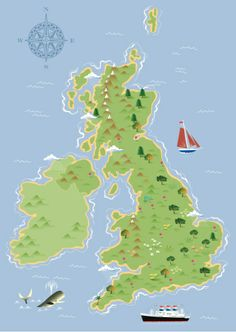 United Kingdom Map Vector Art 97404016