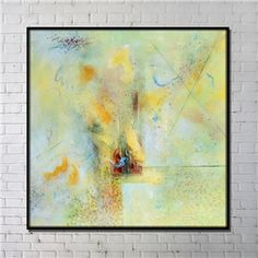 Contemporary Wall Art Abstract Wall Print with Black Frame 40