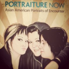 Our visit to Asian American Portraits of Encounter @National Portrait Gallery  Artwork by Shizu Saldamando