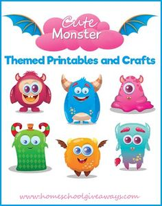 Cute Monster Themed Printables and Crafts