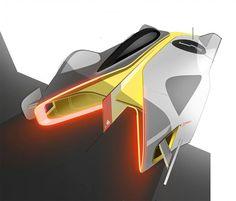 Alpine Vision Gran Turismo Concept Design Sketch by Victor Sfiazof