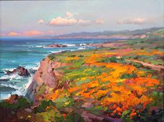 Ovanes Berberian, Artist, Landscape and Still Lfe Artist, bold use os color, Waterhouse Gallery Santa Barbara California