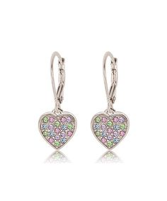 Crystal Heart Drop Earrings Made With SWAROVSKI ELEMENTS | zulily