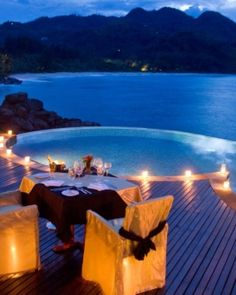 This would be ideal for my honeymoon...maybe this will inspire him to pop the question :)  #Jetsetter #JSBeachDIning