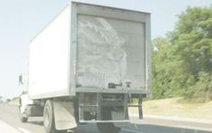I'm guessing the artist had to be standing on a loading dock!