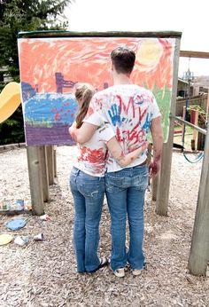 Engagement painting photoshoot