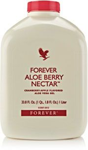 Forever Aloe Berry Nectar All the benefits of the original Aloe Vera Gel drink, coupled with a sweet and refreshing blend of apple and cranberry juice.