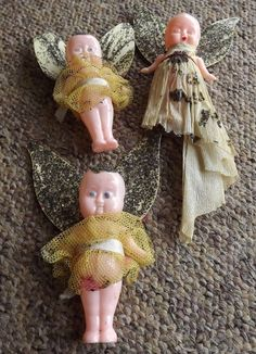 vintage Christmas tree fairy dolls