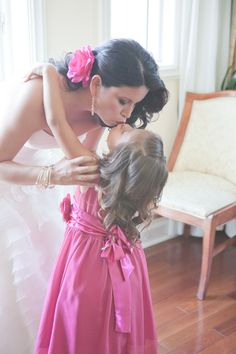 Sweet photo of a mom & bride-to-be with her daughter before the ceremony, photo by 1313blog.com/sarah