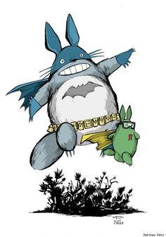 BatToRo #batman #totoro