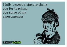 Thank your teacher for their awesomeness!